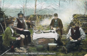 A Hearty Meal – Charcoal Burners, Balcombe Forest, West Sussex, 1908