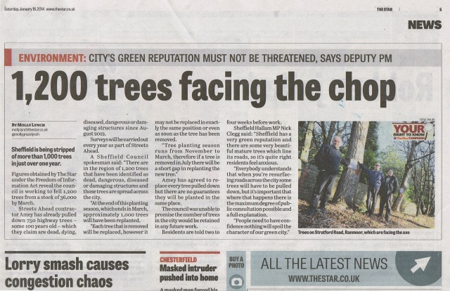 1,200 Sheffield trees for the chop as local people protest
