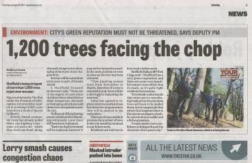 Sheffield Star 1,200 trees face the chop Jan 2014