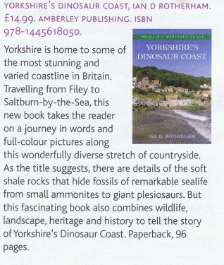 Review of Yorkshire's Dinosaur Coast in the Dalesman, February 2015