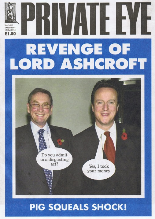 Private Eye No 1402 October 2nd 2015 Cover