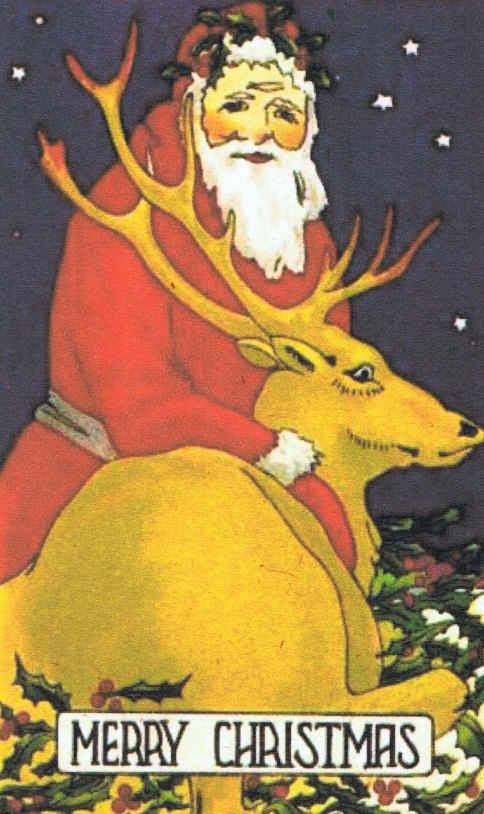 Father Christmas and reindeer copy