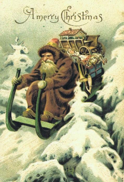 Green Father Christmas