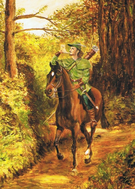Chapter 8 Plate 5 a modern postcard image of Robin Hood, Prince of Sherwood Forest