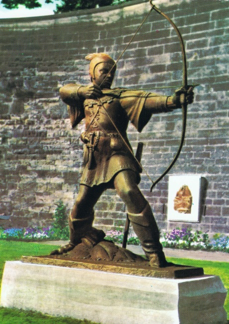 Preamble Plate 4 b) Statue of Robin Hood at Nottingham Castle