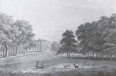 Norton Hall from the deer park in the early 1800s
